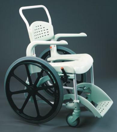 Chaise de douche Clean grandes roues