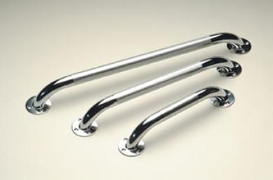 Barre d'appui acier chromé 45 cm